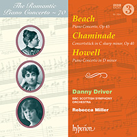 Beach, Chaminade, Howell Piano Concertos